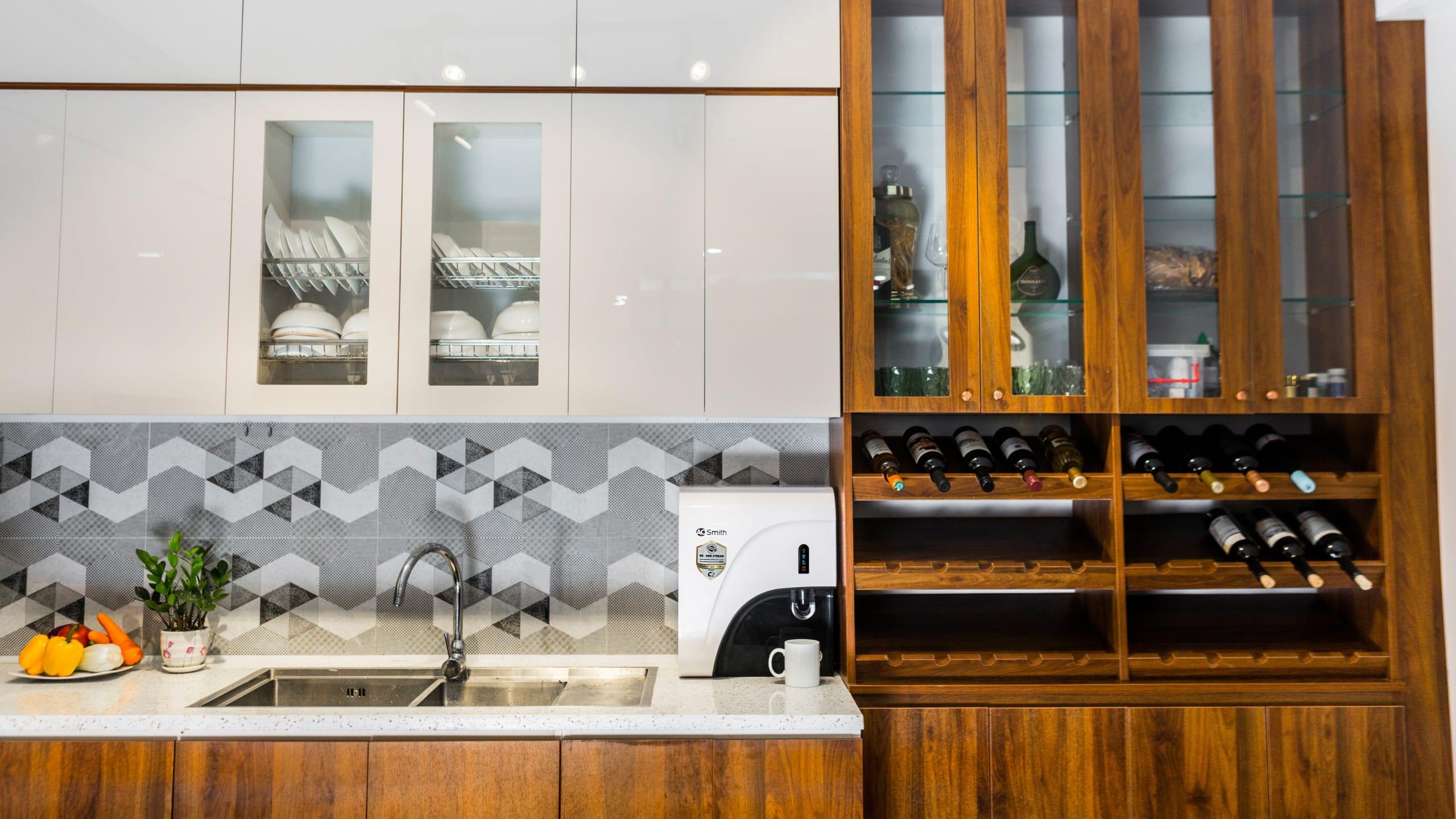 Máy lọc nước C2 phù hợp với mọi không gian, màu sắc trong căn bếp