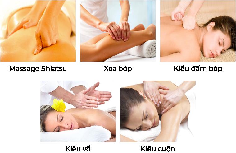 Đa dạng chức năng massage